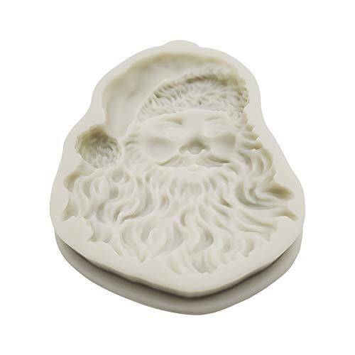 Sunnymi - Molde redondo de silicona para tartas de chocolate, diseño de Papá Noel para hornear, fácil de limpiar, 13,7 x 10 x 2 cm