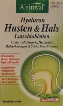 Alsiroyal Hyaluron Husten & Hals (60 Lutschtabletten)