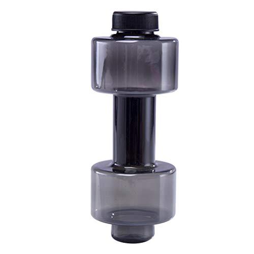 FAVOMOTO Botella de Agua para Deportes con Mancuernas Botella de Agua para Espacios de plástico Botella de Agua de Baja Temperatura para Deportes Ejercicio Fitness ()