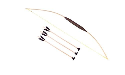 Kinderbogen 80cm, inkl. 3 passende Pfeile, aus hochwertigem Esche-Holz, geeignet für Kinder ab 3 Jahren