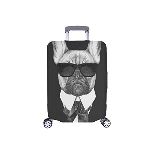 InterestPrint French Bulldog Hipster Animal Travel Luggage Cover Baggage Suitcase Protector for 18'-21' Luggage