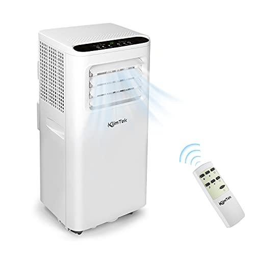 KlimTek Condizionatore portatile 3 in 1 con tubo di scarico, climatizzatore portatile con raffreddamento, 7.000 BTU/h, per ambienti fino a 60 m3 (25 m2) [Classe energetica A]