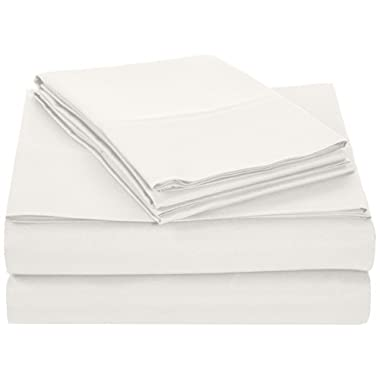AmazonBasics Microfiber Sheet Set - King, Cream