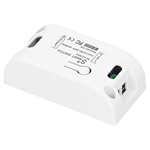 Controlador de receptor de interruptor, controlador de relé de receptor de interruptor de control remoto inalámbrico 1CH para lámpara de hotel en casa 90‑250V