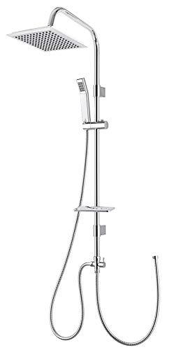 Design Duschset Duschstange Duschsystem Duschsäule Duscharmatur Chrom Regndusche Sanlingo
