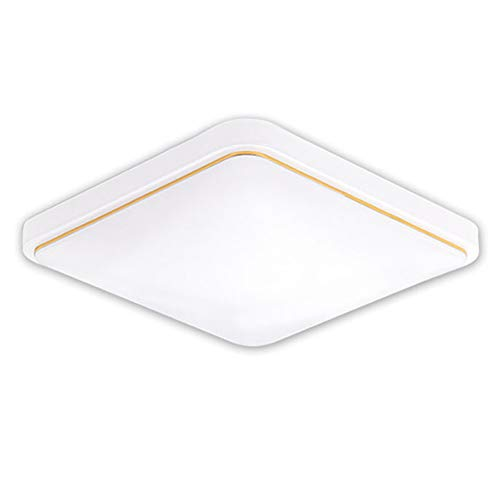 Cosay - Plafoniera a LED, Design Moderno, per Camera da Letto, Cucina, Soggiorno, Gold, 22cmx22cm