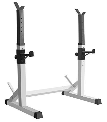 Fitness Rack Squat, Supporto Bilanciere Porta Manubri Staffa Regolabile Palestra Interna Casa Supporto per Allenamento della Forza Rack, Regolabile in Altezz, Peso Max. 300 kg