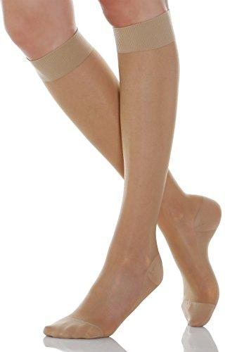 Relaxsan Basic 750 (1 Paar - Hautfarbe, Gr.3) Kniestrümpfe abgestufter Kompression 70 Den 12-17 mmHg