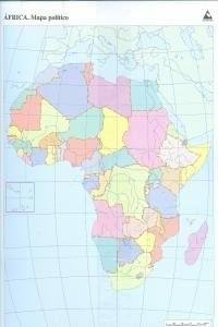 Mapa político África (Mapas mudos)