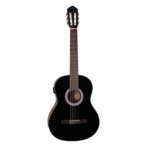Santana B8 BK EQ v2 - Guitarra clásica, color negro