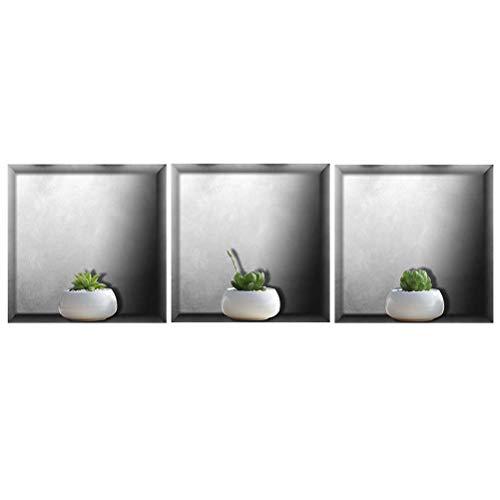 Vosarea 3D-Wandsticker, selbstklebend, kreativ, wasserdicht, Kombination, Dekoration, Wandaufkleber, Tapete, für Schlafzimmer, Wohnzimmer, 30 x 30 cm
