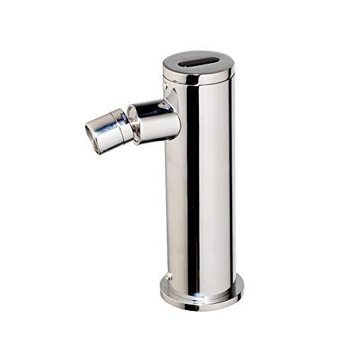 Grifo con sensor, Grifos para lavamanos automáticos, Grifo frío inductivo giratorio eléctrico de 360 grados, Grifos monomando para lavabo monomando en cubierta, Cromo