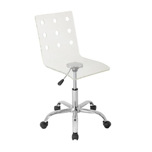 WOYBR OFC-TW CL Acrylic, Chrome Swiss Office Chair