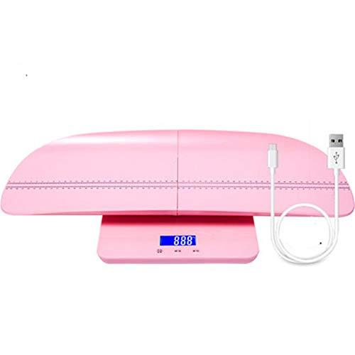 WLIXZ Precisa Bilancia per Bambini, Altezza Elettronica e Bilancia, Bilancia Digitale Multifunzione per misurare Peso Neonato/Neonato / Adulto,Pink