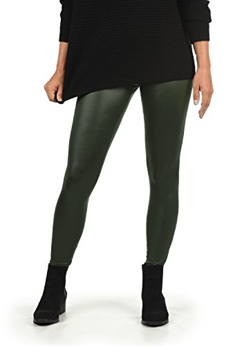 VERO MODA Paris Damen Leggings Hose Kunstleder Mit Stretchanteil Skinny Fit, Größe:M, Farbe:Peat
