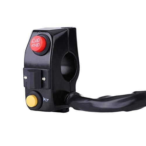 Ymiko Interruptor Universal de señal de Giro de Motocicleta 7/8'Interruptor de Manillar de Montaje de Control de Manillar de Motocicleta con señal de Giro de bocina Control de Haz Alto y bajo(Negro)