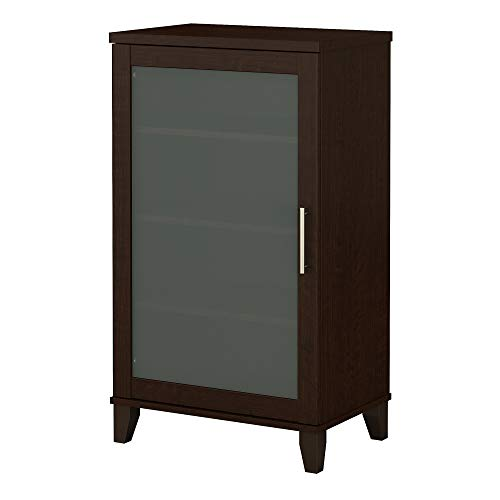 Small Brown Bookcase With One Door