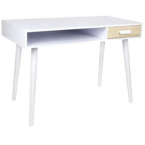 Escritorio para computadora, computadora PC Escritorio para computadora portátil Mesa de Escritura de Estudio con un Compartimento Abierto para el hogar