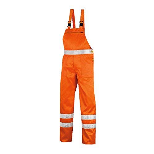 teXXor Warnschutz-Latzhose Hamilton Arbeitshose, 52, orange, 4304