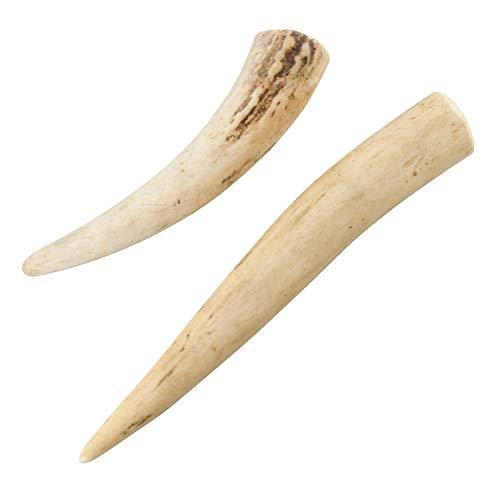monolife 鹿の角 小型犬 犬 おもちゃ 無添加 おやつ エゾジカ 国産 鹿 角 ガム デンタルケア (約 10cm(大) 1本 / 7cm(小) 1本)