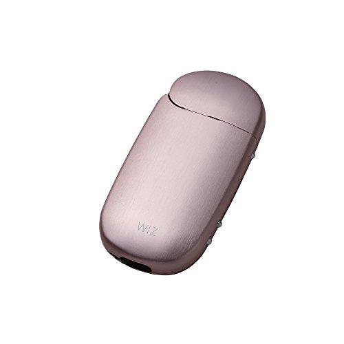 iQOS アイコス 用 アルミ ケース 2.4 Plus / 2.4 両対応 ストラップホルダー付き 工具不要 ネオジウム磁石で簡単装着 WIZ (ピンク)