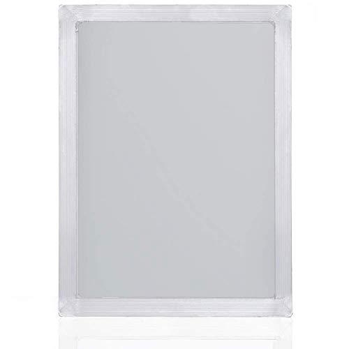 Marcos de aluminio con malla blanca 43T/110 para serigrafía, 25 x 35 cm