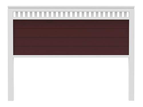PEJECAR cabecero Modelo Bora para Cama de 135 Fabricado en Madera Maciza de Pino insigni Acabado Combinado Blanco Nogal