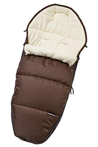 Gesslein Fußsack 716746000 Sleepy/Winterfußsack für Kinderwagen, Sportwagen, Buggy, Babywanne oder Schlitten, braun