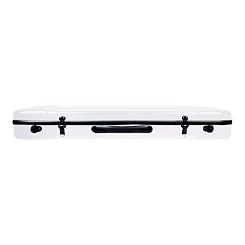 gazechimp 4/4 Violine Koffer, Carbon Fiber Violin Case Geigenkasten Violinenkoffer mit Hygrometer, Wasserdicht, Weiß