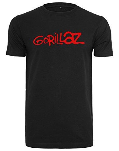 MERCHCODE Herren Gorillaz Logo Tee T-Shirt, Black, XXXL