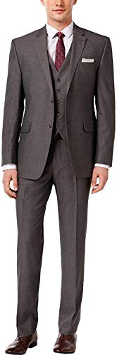 Stacy Adams Men's Big-Tall Suny Vested 3 Piece Suit, Black, 56 Regular