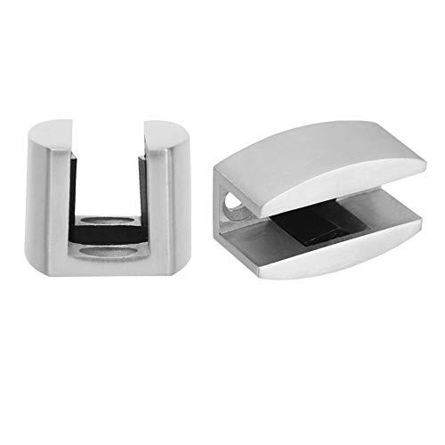 Duokon Ersatz-Türstopper aus Edelstahl 304 für die Zweiteilige untere Schiene für rahmenlose Glasschiebetüren
