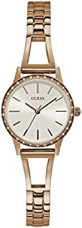 Guess Dress Watch for Women, Stainless Steel Case, White Dial, Analog -GW0025L3