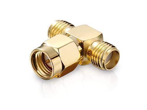 adaptare 60379 Verteiler (T-Stück) SMA-Stecker auf 2x SMA-Buchse