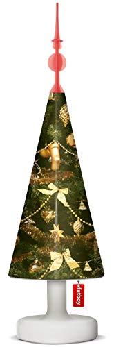 Fatboy Edison The Petit Tischlampe mit Christmas Tree Topper/Lampenschirm Goldie Oldie - Akku LED X-Mas Leuchte für den In- und Outdoor Bereich