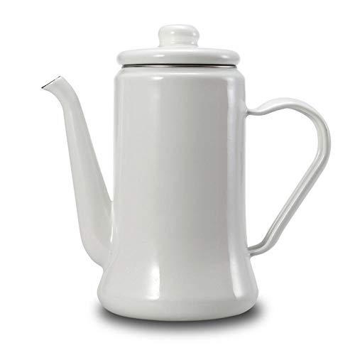 JJFU Koffie Grinders Molen Grinders 1.1L Emaille Koffiepot Hand Thee Ketel Inductie@C