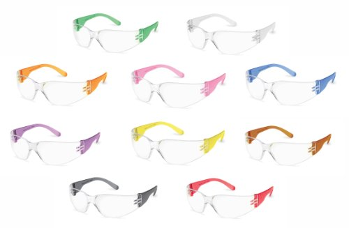 Gateway Safety 4699 StarLite Gumballs Safety Glasses, Clear Lens, 10 Colors Included (Pack of 10)
