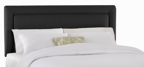 Big Sale Best Cheap Deals Skyline Furniture Addison California-King Twill-Upholstered Border Headboard, Black