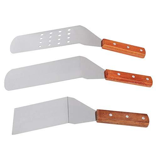 Alinory Grill Turner, 3 Stück/Set Edelstahl Pizza Shovel Lifter Cutter Grill Turner Backspatel Kochwerkzeuge