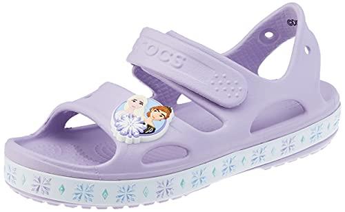 Crocs Unisex - Bambini Fun Lab Disney Frozen II Sandal, Lavender, 28-29