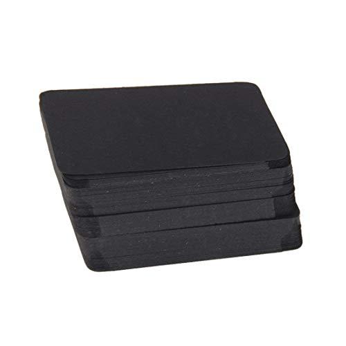 A-CRAFT 100枚セットクラフト紙製 無地 カード 荷札 メッセージカード ラベル タグ (ブラック)