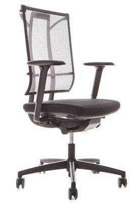 Drehstuhl Sail SY6 mit Armlehnen Bürostuhl Bürosessel Schwarz