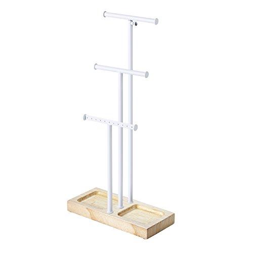 Love-KANKEI Schmuckständer Schmuckhalter Kettenhalter - 3 Stäben (Max Höhe 58cm), zur Aufbewahrung von Ketten, Ohrringen, Ringen, Uhren und Armbändern (MEHRWEG)