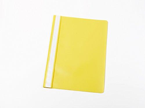 25 Schnellhefter DIN A5 / PP / Farbe: gelb