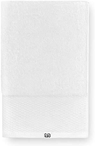 Calvin Klein Riverstone Toalla de Mano, Algodón orgánico, Blanco, 70x140 cm