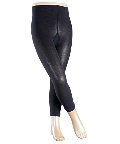FALKE Kinder Leggings Cotton Touch - Baumwollmischung, 1 Stück, Blau (Dark Marine 6170), Größe: 110-116