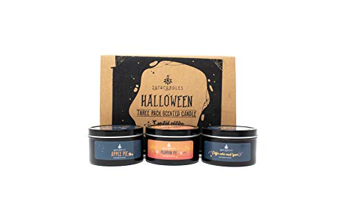 Safa Candles Pumpkin Spice, Apple Pie and Coffee Cake & Spice Candle, 6 oz (3 Pack)