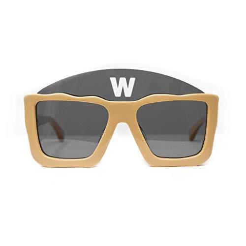 Walter Van Beirendonck Gafas de sol Cuadrado Tan y Gris Oscuro Lentes - WVB1C1SUN