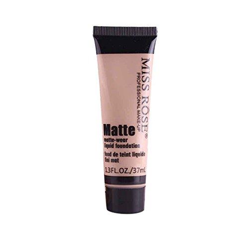 Elenxs Maquillaje Nueva Miss Rose Mate Corrector Crema hidratante Loción Muchachas de Las Mujeres líquido blanquea la Fundación Crema Beige 3