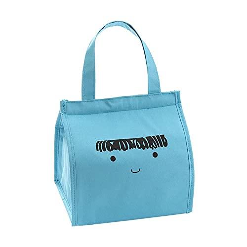 KDJFHDJ Sac à Lunch pour Femme isolé Sac à Lunch à l'épreuve de l'étanchéité de Filles Girl déjeuner Cooler Bag Boîte à Lunch Sac Pique-Nique/Travail/École Sac Blue
